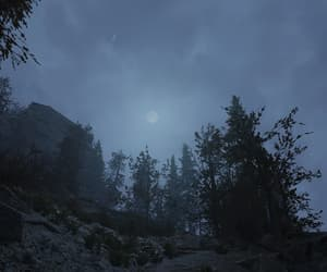 blue, moon, and overcast image