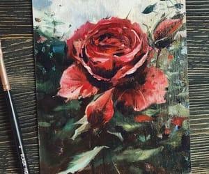 arte, dibujo, and roja image