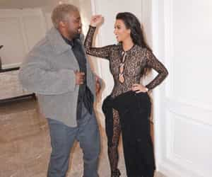 couple, kanye, and kanye west image
