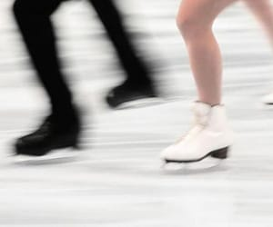 couple, ice, and ice skating image