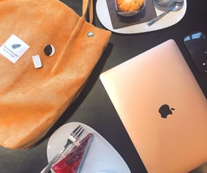 aesthetic, apple, and bag image