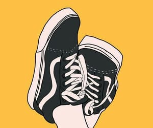 yellow, vans, and wallpaper image