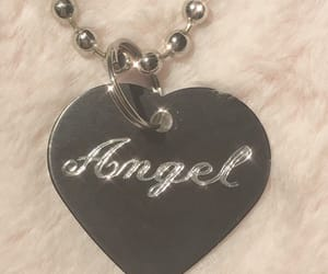 angel, necklace, and theme image