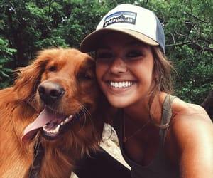 girl, dog, and model image
