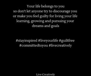 live your life, committed to you, and guilt free image