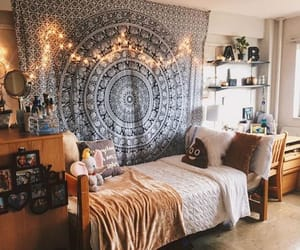 bedroom, decor, and dorm image