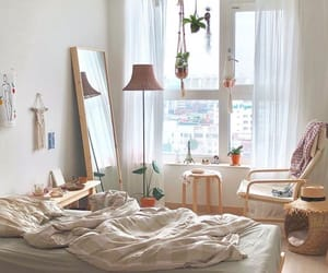bedroom, simple, and white image
