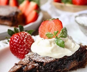 berries, cream, and food image