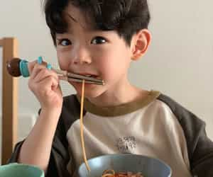 asian, children, and eat image
