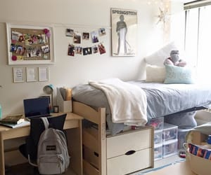 bedroom, room, and dorm image
