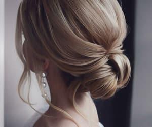 blonde hair, curly hair, and hair image