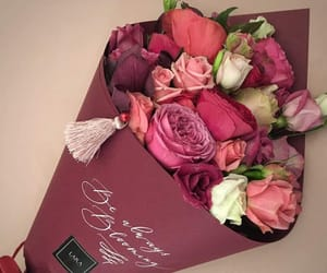 bouquet, burgundy, and flower image