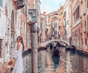 girl, italy, and venice image