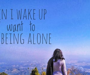 alone, growing up, and life image