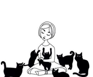b&w, cats, and black and white image