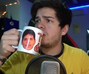 meme, yellow, and cup image