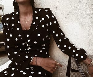bag, dots, and dress image