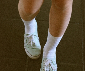 girl, vans, and legs image