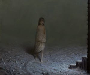 painting, winter, and aron wiesenfeld image