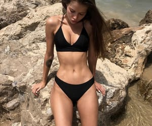beach, body, and motivation image