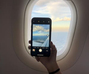 aviao, céu, and viajar image