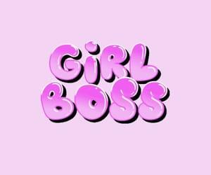 boss, girl, and pink image