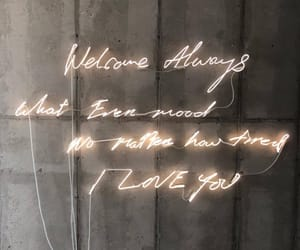 light, neon, and words image