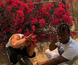 dope, flowers, and red image