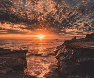 sunset, sea, and photography image