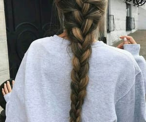 braid, hair, and long image