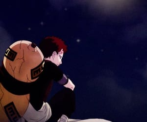 anime, black, and gaara image