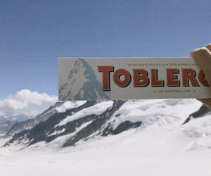 chocolate, toblerone, and mountains image
