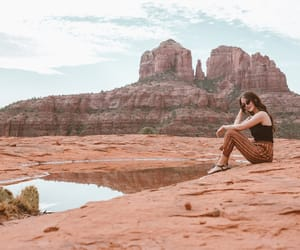 fashion, fashion blogger, and red rock image