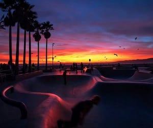 beautiful, sunset, and dark image