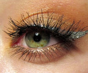 eyelashes, brownmakeup, and eyeliner image