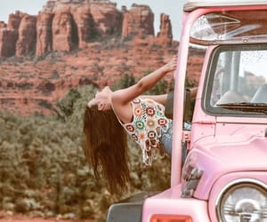 adventure, outdoors, and pink image