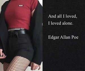 alone, Edgar Allen Poe, and angst image