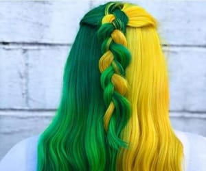 colorful hair, colors, and fashion image