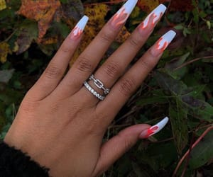 nails, acrylic, and flame image
