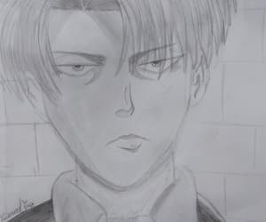 anime, draw, and levi image
