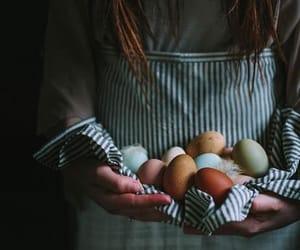 eggs and girl image