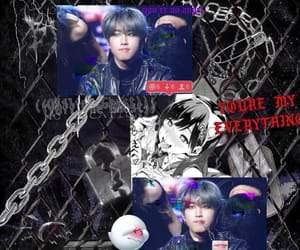 edit, cyber goth, and jisung image