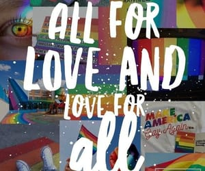 rainbow, lgbt, and love is love image