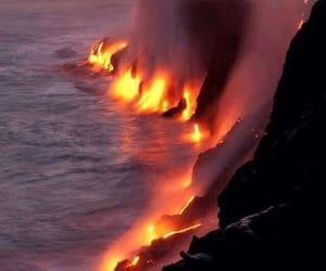 lava, fire, and hawaii image