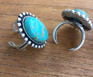 etsy, native american, and turquoise ring image