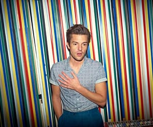 brandon flowers, fashion, and hair image
