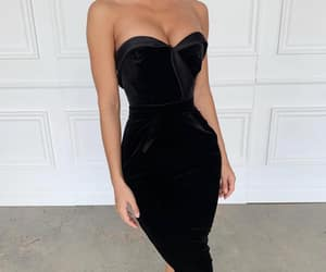 black, dress, and elegant image