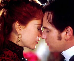 couple, kiss, and moulin rouge image