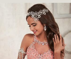 cute dress, two pieces dress, and dress ball gown image