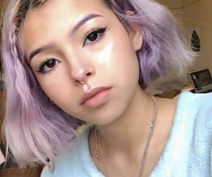 beautiful, colored hair, and pretty image